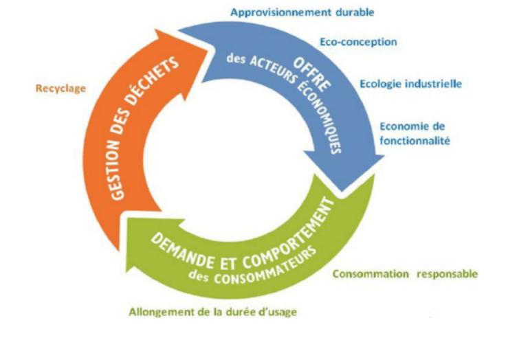 Economie circulaire - 3 principes fondamentaux et 7 piliers