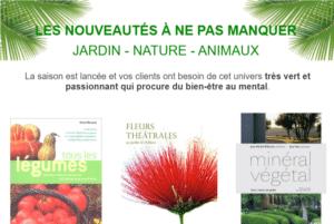 Catalogue de livres jardin, nature et animaux