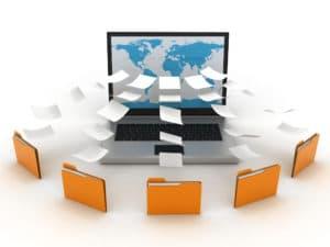 fichiers enregistrés en ligne